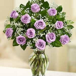 Dozen Purple Roses