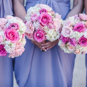 Pink Rose Bridesmaids Bouquet